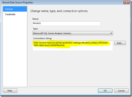 Using Traditional SSRS parameterized reports against a
