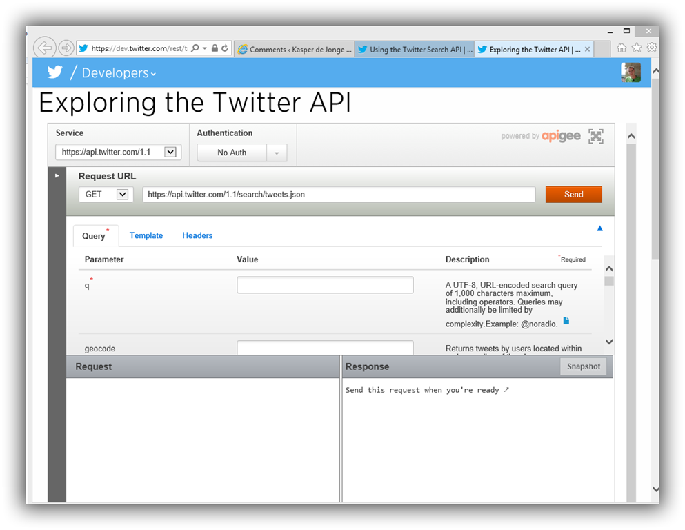 Getting data into Power Query with the twitter search API