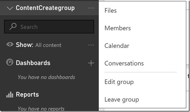 clip image007 thumb Using groups in Power BI to publish content to production on your schedule.
