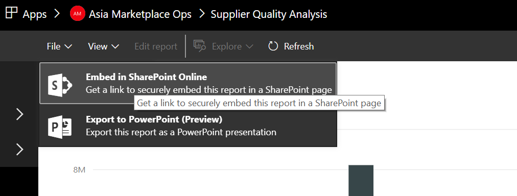 Embed Power BI reports in SharePoint online using Apps